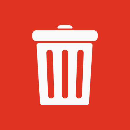 The trashcan icon. Dustbin symbol. Flat Vector illustration Illustration