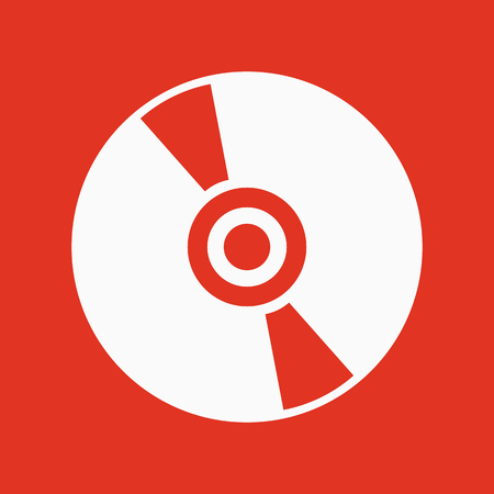 compact disk: The cd icon. Compact disk symbol. Flat Vector illustration