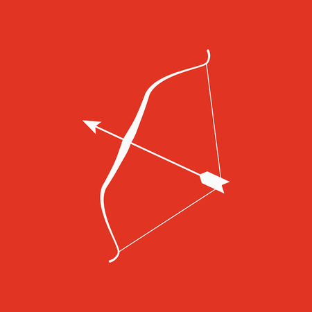 successfull: The bow icon. Bow symbol. Flat Vector illustration Illustration