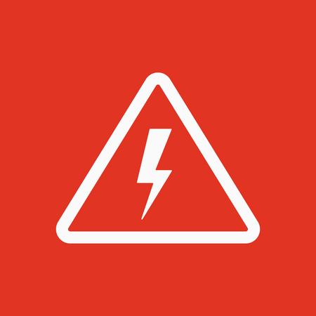 lightning speed: The lightning icon. Danger symbol. Flat Vector illustration