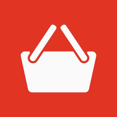 The basket shoping icon. Shop Basket symbol. Flat Vector illustration Illustration