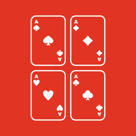ace: The Ace icon. Playing Card Suit symbol. Flat Vector illustration