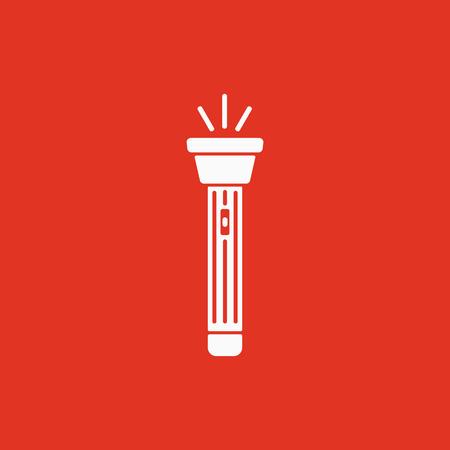 electric torch: The flashlight icon. Torch symbol. Flat Vector illustration Illustration