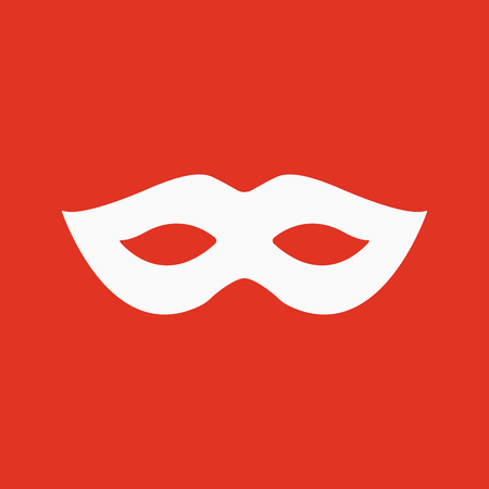 decoration decorative disguise: The festive mask icon. Masquerade and Carnival symbol. Flat Vector illustration