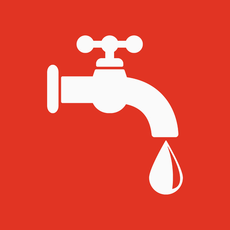 The tap water icon. Water symbol. Flat Vector illustration Illustration