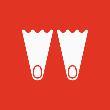 The flippers icon. Diving symbol. Flat Vector illustration Illustration