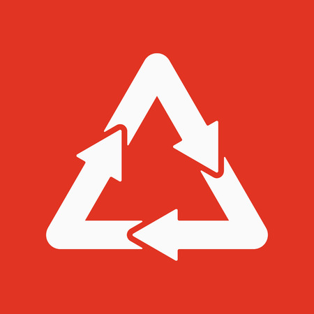 environmentalist: The waste processing icon. Bio symbol. Flat Vector illustration