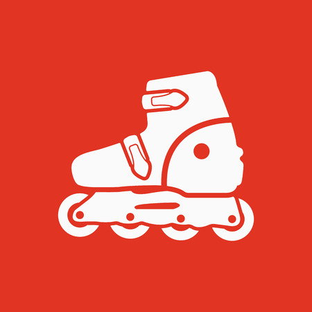 The roller skate icon. Skates symbol. Flat Vector illustration Illustration