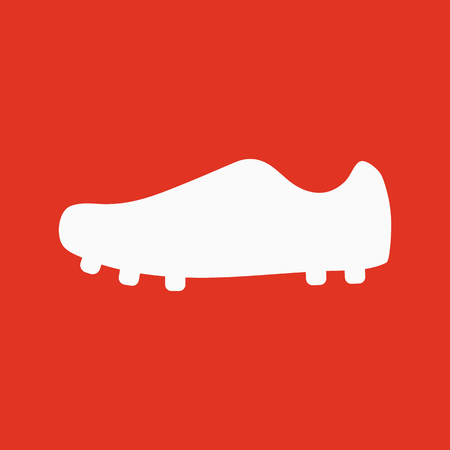 soccer boots: The Football boots icon. Soccer symbol. Flat Vector illustration