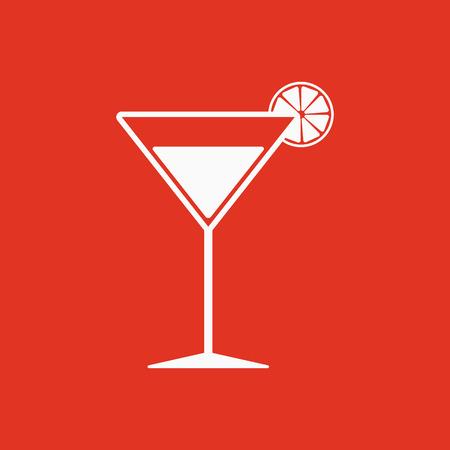 The cocktail icon. Alcohol symbol. Flat Vector illustration Illustration