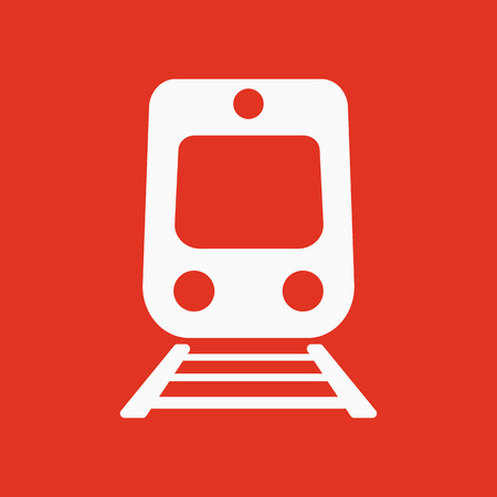 highspeed: The train icon. Railway symbol. Flat Vector illustration