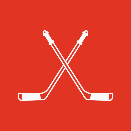 icehockey: Hockey icon. Sport symbol. Flat Vector illustration