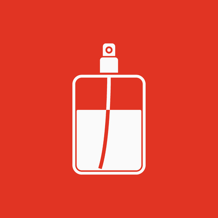 The perfume icon. Cologne symbol. Flat Vector illustration