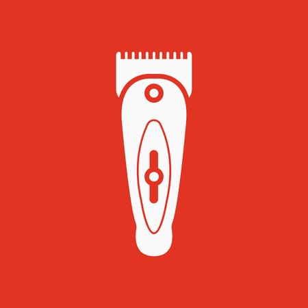 shaver: The hairclipper icon. Shaver symbol. Flat Vector illustration