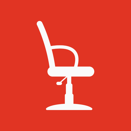 The barber chair icon. Armchair symbol. Flat Vector illustration