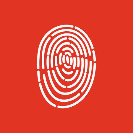 The fingerprint icon. ID symbol. Flat Vector illustration