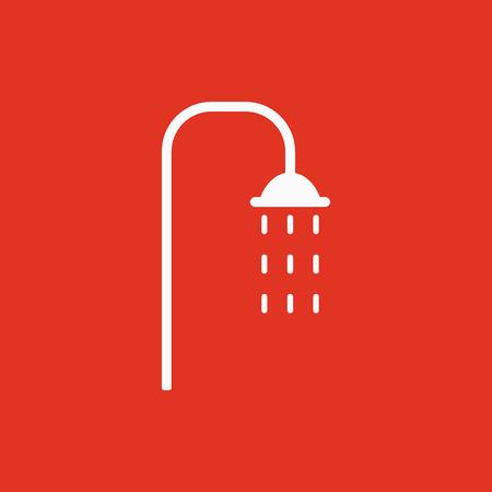 hygienic: The shower icon. Bathroom symbol. Flat Vector illustration Illustration