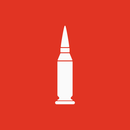 bullet icon: The bullet icon. Weapon symbol. Flat Vector illustration