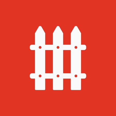 El icono de la valla. Paling símbolo. Ilustración del vector plana