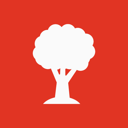 reforestation: The tree icon. Nature symbol. Flat Vector illustration