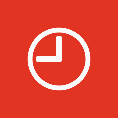 The time icon. Clock sound symbol. Flat Vector illustration