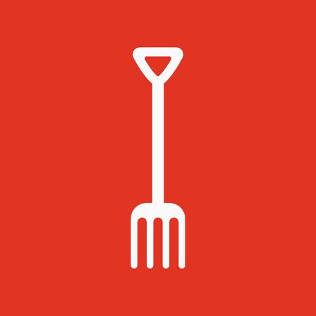 pitchfork: The pitchfork icon. Fork symbol. Flat Vector illustration