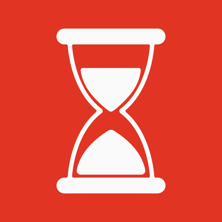 Flat Hourglass Icon