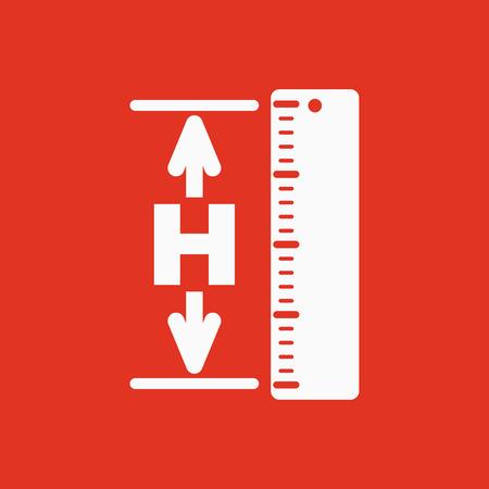 elevation: The height icon. Altitude, elevation, level, hgt symbol Flat Vector illustration