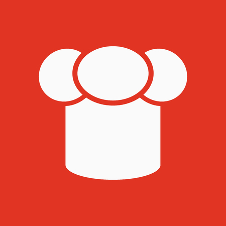 gastronome: The toque icon. Chef and cook symbol. Flat Vector illustration