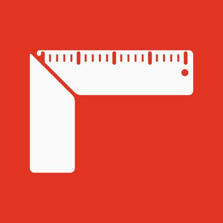 The setsquare icon. Building square symbol. Flat Vector illustration