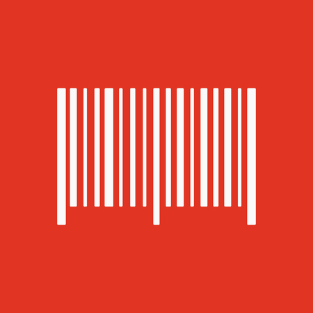 bar code reader: The barcode icon. Identification and ID symbol. Flat Vector illustration. Button Set Illustration