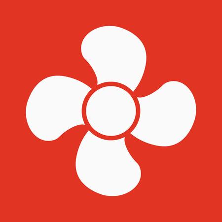 blower: The fan icon. fan, ventilator, blower, propeller symbol Flat Vector illustration