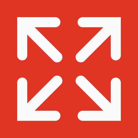 The full screen icon. Arrows symbol. Flat Vector illustration
