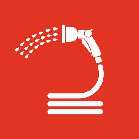 The spray gun icon. Irrigation and watering symbol. Flat Vector illustration