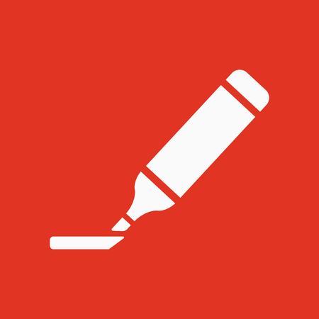 highlighter: The marker icon. Highlighter symbol. Flat Vector illustration Illustration