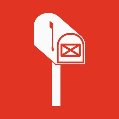 post office: The mailbox icon. Mail, postal, post office symbol. Flat Vector illustration