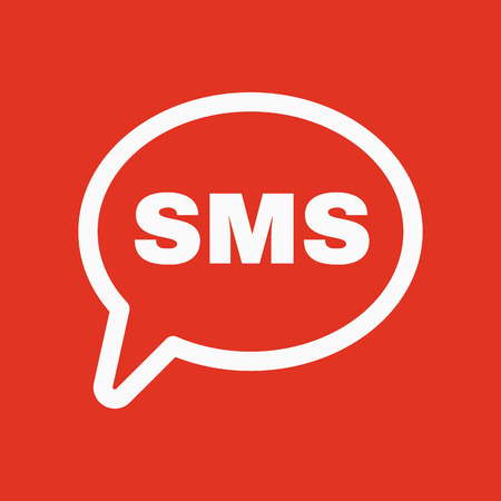 sms: The sms icon. Text message symbol. Flat Vector illustration Illustration