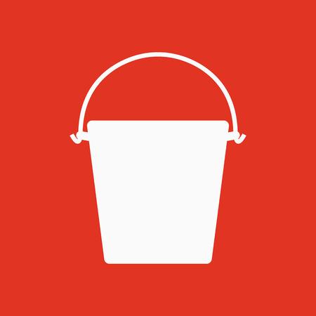 pail: The bucket icon. Pail and bucketful symbol. Flat Vector illustration Illustration