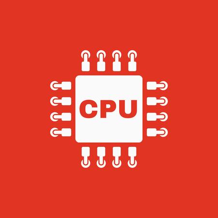 processor: The cpu icon. Microprocessor and processor symbol. Flat Vector illustration Illustration