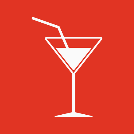The cocktail icon. Drink and party, alcohol symbol. Flat Vector illustration