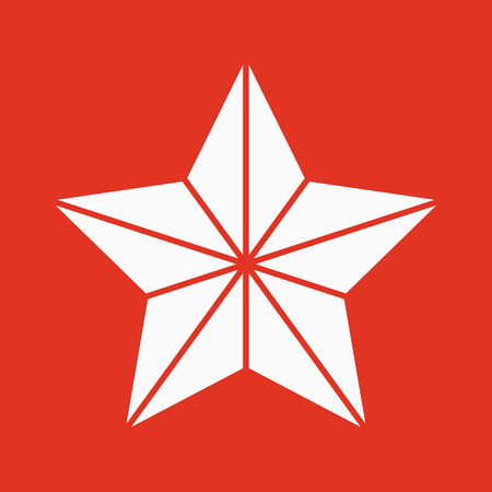 The star icon. Best and favorite, quality symbol. Flat Vector illustration