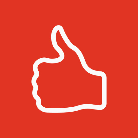 approve icon: The thumb up icon. Like and yes, approve symbol. Flat Vector illustration