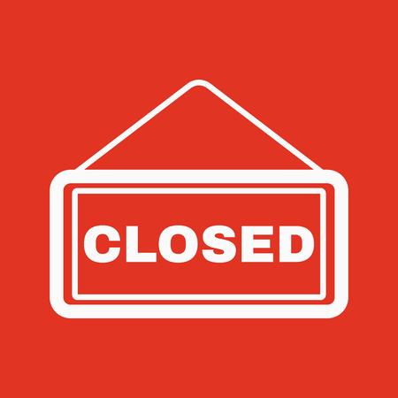 locked: The closed icon. Locked symbol. Flat Vector illustration