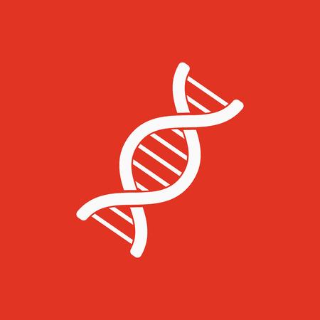 cromosoma: El icono de la DNA. La genética y la medicina, molécula, cromosomas, símbolo biología. Ilustración vectorial Flat Vectores