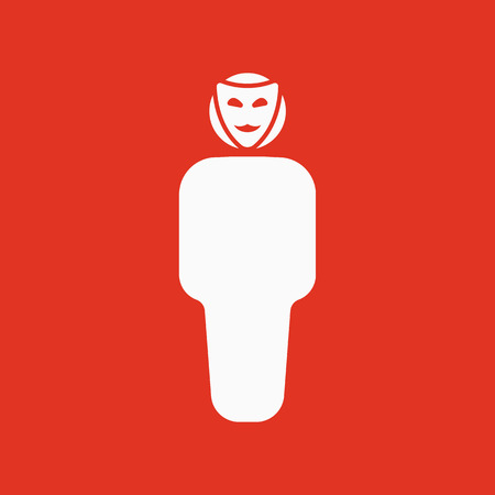 impersonal: The anonym icon. Unknown and faceless, impersonal, featureless symbol. Flat Vector illustration