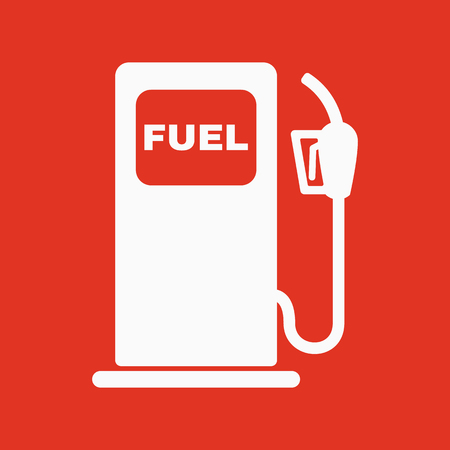 refuel: The gas station icon. Gasoline and diesel fuel symbol. Flat Vector illustration