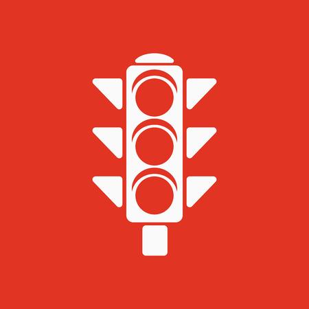 The traffic light icon. Stoplight and  semaphore, crossroads symbol. Flat Vector illustration Illustration