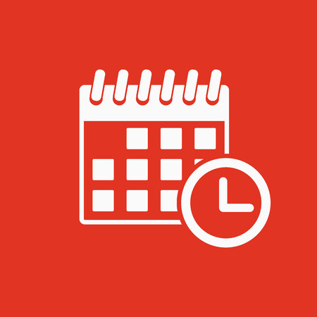 The calendar icon. Reminder and event, time symbol. Flat Vector illustration