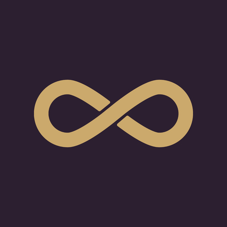 infinity symbol: The infinity icon. Infinity symbol. Flat Vector illustration