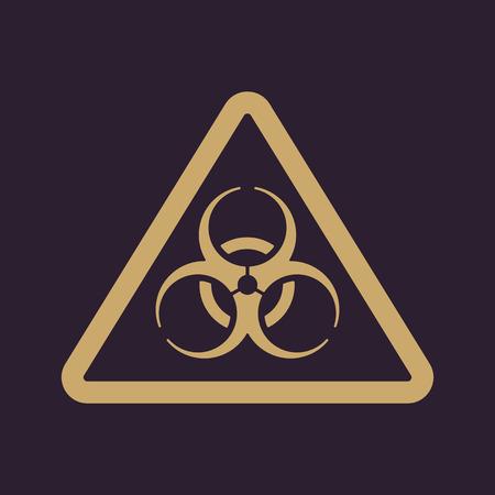 The biohazard icon. Biohazard symbol. Flat Vector illustration Illustration